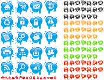 Icon set on splats Stock Photos