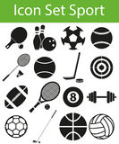 Icon Set Sport. With 16 icons for the creative use in graphic design royalty free illustration