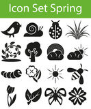 Icon Set Spring Royalty Free Stock Photos