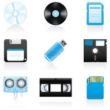 Icon set Storage media Royalty Free Stock Image