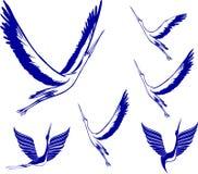 Icon Set of Storks Stock Photo