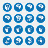 Icon set of stroke disease for infographic Royalty Free Stock Image