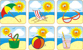 Icon Set Summer & Sun, vector Stock Photography
