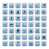 Icon set with sweet background. Stock Photography