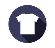 Icon set t-shirt illustrated Royalty Free Stock Image