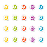 Icon Set Talk Bubbles (Vector. SimpleCons Icon Series Talk to Me! Set: Simple, colorful round icons with cast shadow. 20 useful icons with talk bubbles. Look for Stock Images