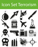 Icon Set Terrorism Stock Photos