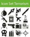 Icon Set Terrorism Stock Photos