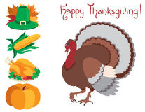 Icon set  for thanksgiving Stock Images