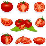 Icon Set Tomato Royalty Free Stock Image