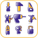 Icon set. Tools Royalty Free Stock Image