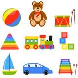 Icon Set Toys Stock Photos