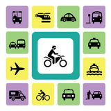 Icon Set Traffic Stock Photos