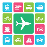 Icon Set Traffic Royalty Free Stock Photo