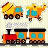 Icon set transport Royalty Free Stock Photography