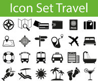 Icon Set Travel. With 24 icons for different purchase Stock Image