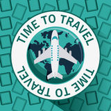 Icon set travel vacations trip Royalty Free Stock Photo
