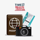 Icon set travel vacations trip Royalty Free Stock Images