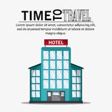 Icon set travel vacations trip. Hotel time to travel vacations trip icon Vector illustration Royalty Free Stock Images