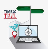 Icon set travel vacations trip Royalty Free Stock Photography