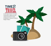 Icon set travel vacations trip Stock Photography