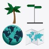 Icon set travel vacations trip Stock Photo