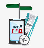 Icon set travel vacations trip Royalty Free Stock Image
