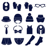 Icon set of types of accessories for children Royalty Free Stock Images
