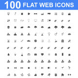 Icon set, Universal website, Construction, industry, Business, Medical, healthy and ecology icons. 100 Icon set. Vector concept illustration for design Stock Photos