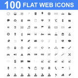 Icon set, Universal website, Construction, industry, Business, Medical, healthy and ecology icons. 100 Icon set. Vector concept illustration for design Stock Photo