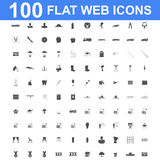 Icon set, Universal website, Construction, industry, Business, Medical, healthy and ecology icons. 100 Icon set. Vector concept illustration for design Stock Photography