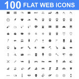 Icon set, Universal website, Construction, industry, Business, Medical, healthy and ecology icons. 100 Icon set. Vector concept illustration for design Royalty Free Stock Photography