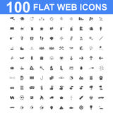 Icon set, Universal website, Construction, industry, Business, Medical, healthy and ecology icons. 100 Icon set. Vector concept illustration for design Stock Image