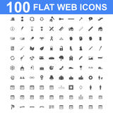 Icon set, Universal website, Construction, industry, Business, Medical, healthy and ecology icons. 100 Icon set. Vector concept illustration for design Stock Illustration