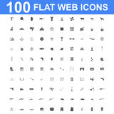 Icon set, Universal website, Construction, industry, Business, Medical, healthy and ecology icons. 100 Icon set. Vector concept illustration for design Stock Images
