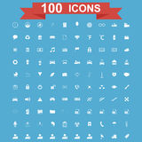 Icon set, Universal website, Construction, industry, Business, Medical, healthy and ecology icons. 100 Icon set. Vector concept illustration for design Royalty Free Stock Images