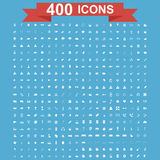 Icon set, Universal website, Construction, industry, Business, Medical, healthy and ecology icons. 400 Icon set. Vector concept illustration for design Royalty Free Stock Images