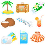 Icon set Vacations. Set with vacations and travel icons Royalty Free Stock Image