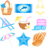 Icon set Vacations. Set with vacations and travel icons Royalty Free Stock Photos
