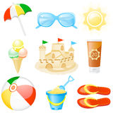 Icon set Vacations. Set with vacations and travel icons Royalty Free Stock Photography