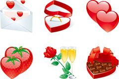 Icon set for valentines Royalty Free Stock Photo