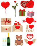 Icon set Valentines Day Royalty Free Stock Photos