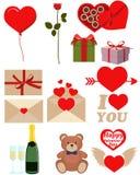 Icon set Valentines Day Royalty Free Stock Photos