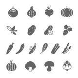 Icon set - vegetable Stock Image
