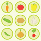 Icon Set -Vegetables Stock Images