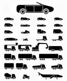Icon set Vehicles Royalty Free Stock Photography