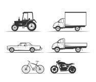 Icon set Vehicles Stock Image