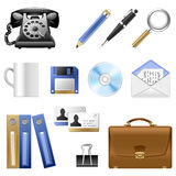 Icon set of vintage accessories Stock Photos