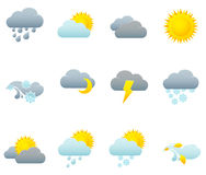 Icon set - weather Royalty Free Stock Photos