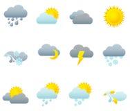 Icon set - weather Royalty Free Stock Photos